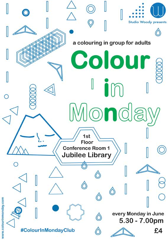 Woodys Colour In Monday Club Jubilee library brighton