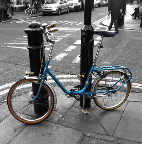 woody little bike look out Puch London