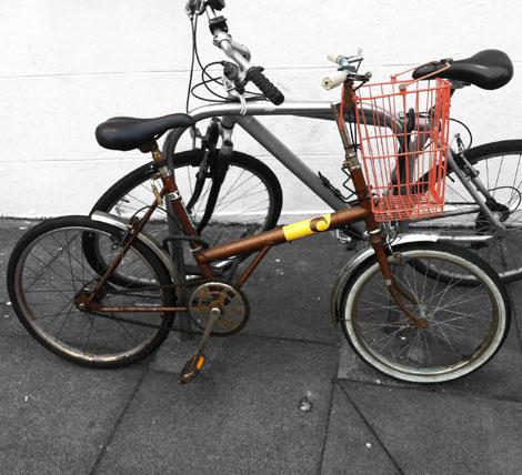 little bike look out carhart brown bike
