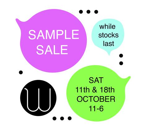 Woody Sample Sale October 2014