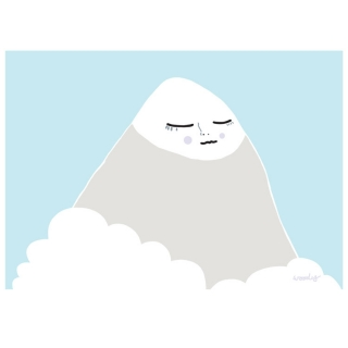 Mountain Poster by Woody